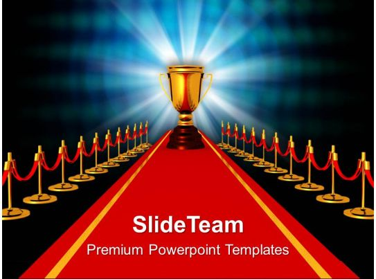 Award On Red Carpet Competiton Powerpoint Templates Ppt Themes And