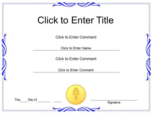 Award recognition diploma certificate template of for Award certificate template powerpoint