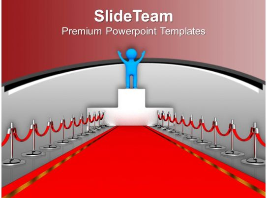 award winner red carpet leadership powerpoint templates ppt themes