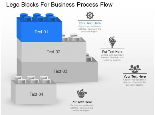 business process catalogue template - awesome sales presentation showing ba lego blocks for