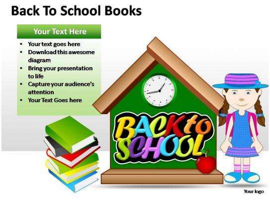 Back To School Books Powerpoint Presentation Slides Powerpoint