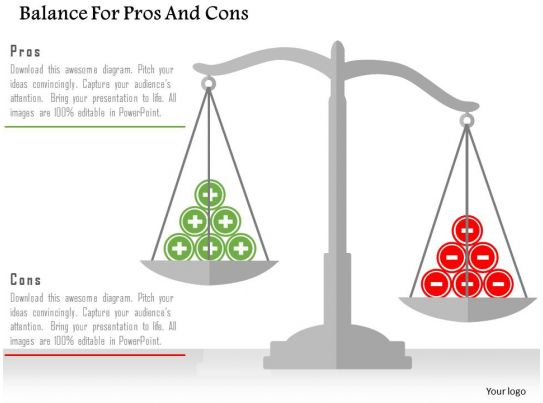 Balance for pros and cons flat powerpoint design for Pros and cons matrix template