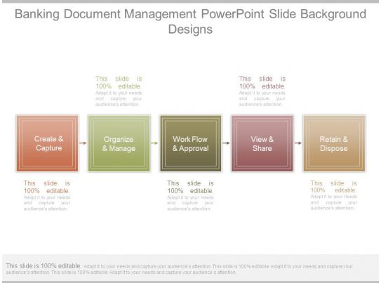 Banking Document Management Powerpoint Slide Background