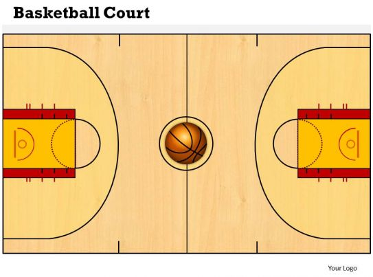 basketball court powerpoint template slide powerpoint presentation sample example of ppt. Black Bedroom Furniture Sets. Home Design Ideas