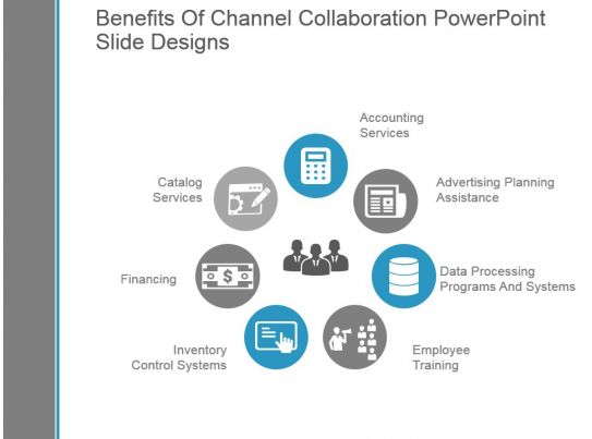 Collaborative Teaching Powerpoint ~ Benefits of channel collaboration powerpoint slide designs