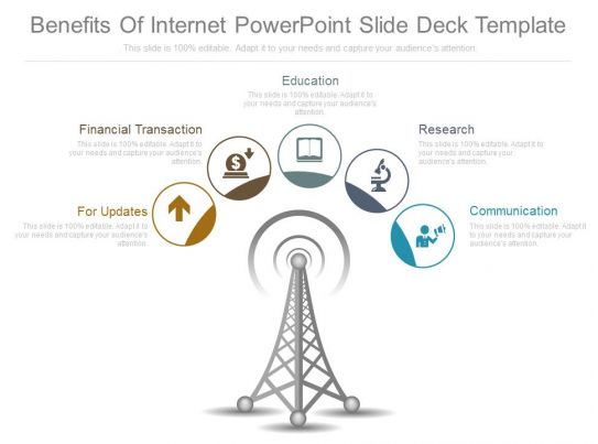 benefits of internet powerpoint slide deck template