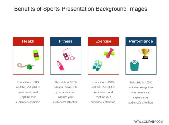 benefits of sports presentation background images