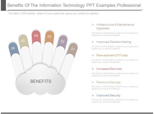 benefits of the information technology ppt examples professional