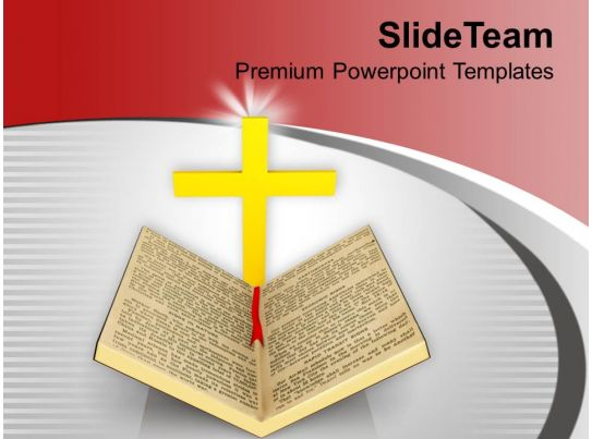 bible and cross background religion powerpoint templates ppt backgrounds for slides 0113