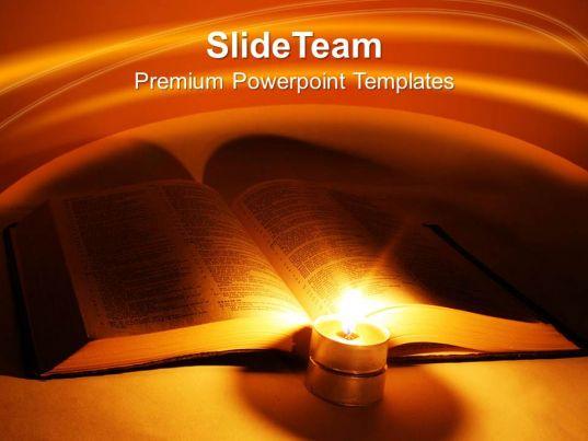 Bible Cross Powerpoint Templates Religion Teamwork Ppt Slides ...