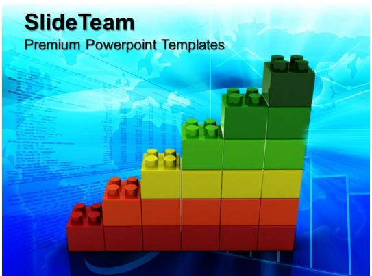 big building blocks powerpoint templates lego business