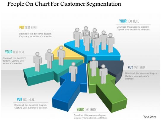 bj people on chart for customer segmentation powerpoint