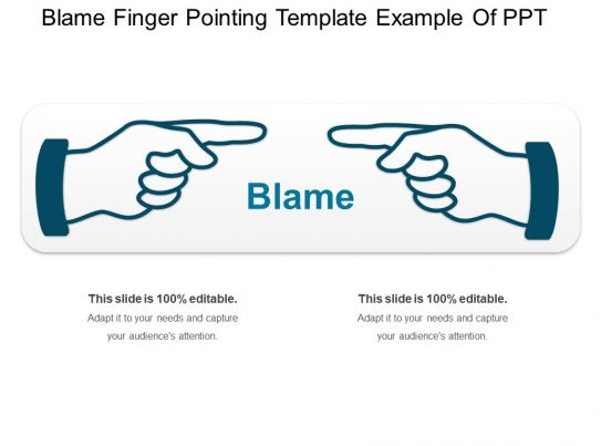 blame finger pointing template example of ppt