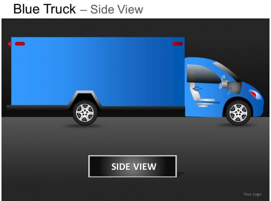 Truck Side View Png Blue Truck Side View