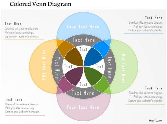 bm colored venn diagram powerpoint template powerpoint slide templates download ppt. Black Bedroom Furniture Sets. Home Design Ideas