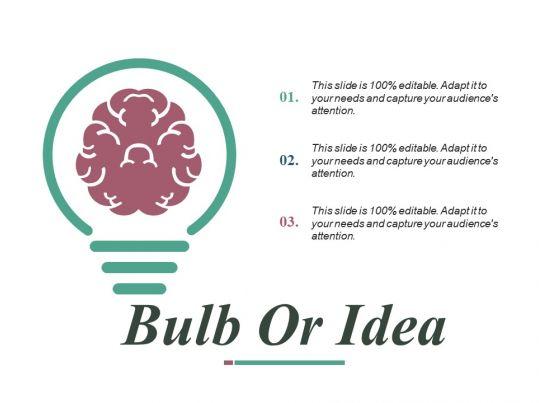 bulb or idea ppt slides design inspiration presentation graphics