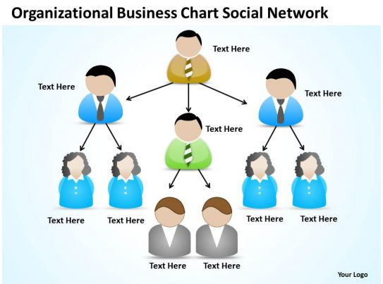Business Analyst Diagrams Organizational Chart Social Network Powerpoint Slides