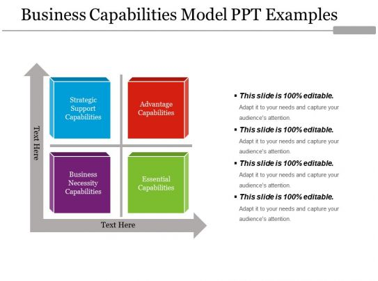 business capabilities model ppt examples