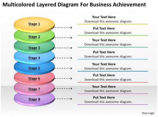 business concept diagram for achievement powerpoint templates ppt, Achievement Presentation Template, Presentation templates