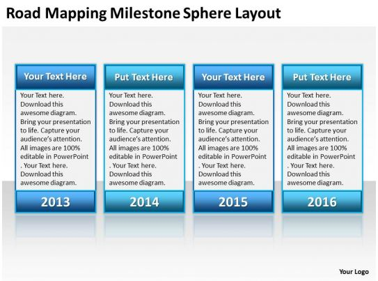 Milestone ppt gallery for Milestone chart templates powerpoint