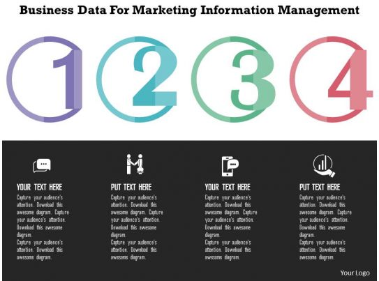 business data for marketing information management flat