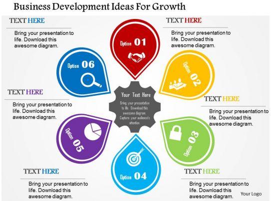 business development ideas for growth flat powerpoint