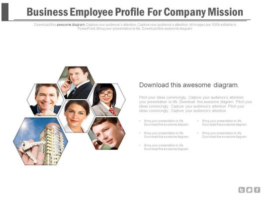 business employee profile for company mission powerpoint