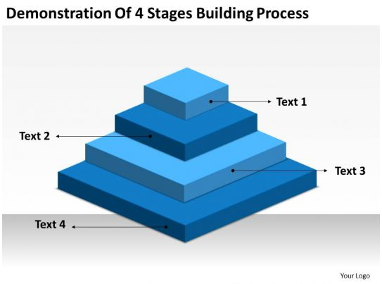 Business Flowchart Demonstration Of 4 Stages Building Process