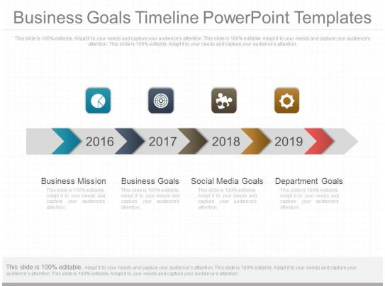 business goals timeline powerpoint templates powerpoint slides diagrams themes for ppt. Black Bedroom Furniture Sets. Home Design Ideas