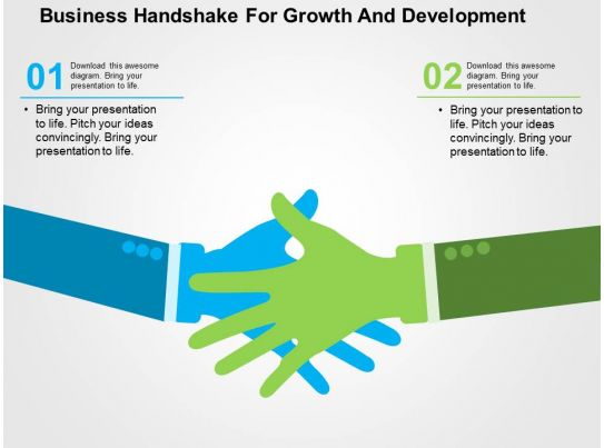 Business Handshake For Growth And Development Flat ...