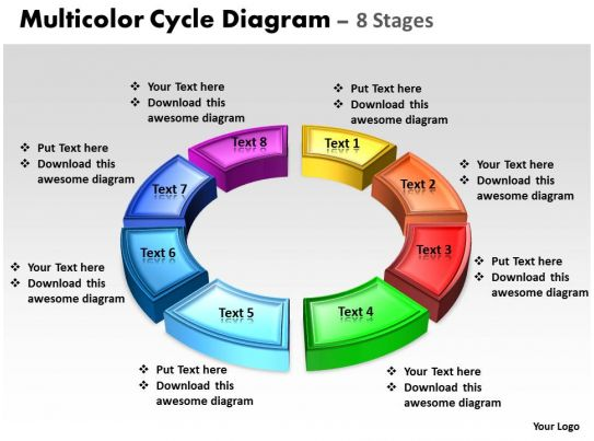 d cycle process flow chart  stages style  ppt templates business powerpoint templates d animated multicolor cycle diagram
