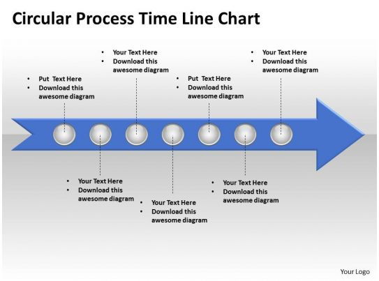 Business Powerpoint Templates Circle Process Time Line