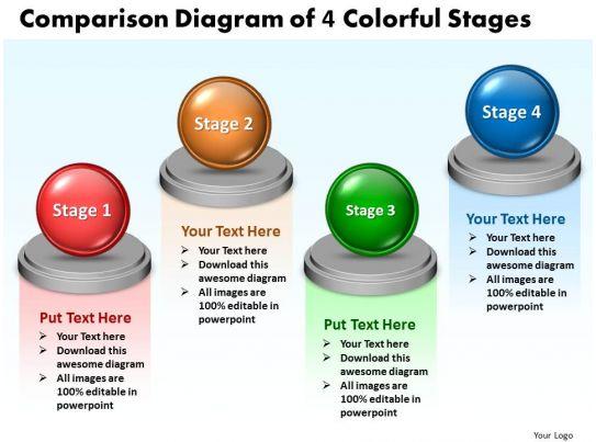 Business PowerPoint Templates comparison diagram of 4 ...
