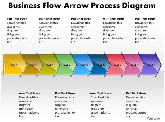business powerpoint templates flow arrow process diagram