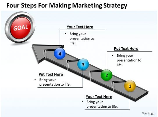 business powerpoint templates four steps for making marketing ...