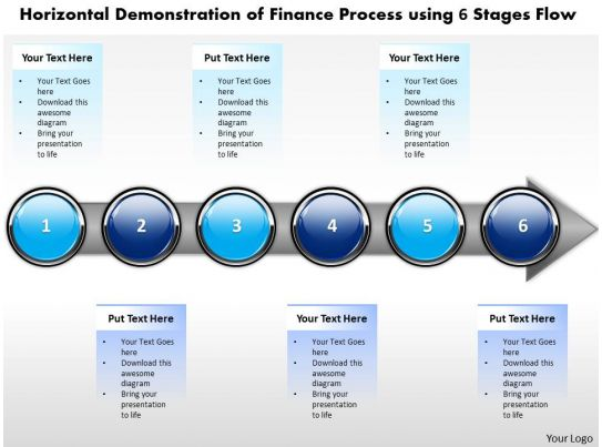 Business Powerpoint Templates Horizontal Demonstration Of Finance