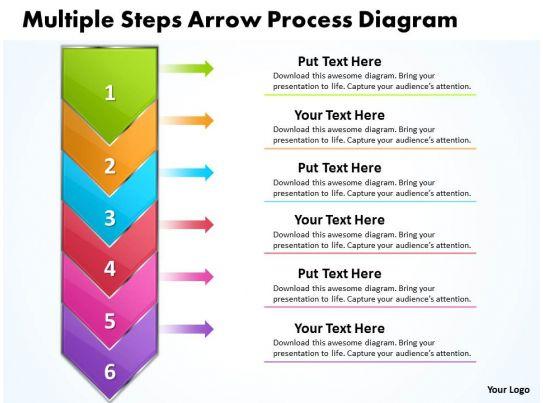 business powerpoint templates mulitple steps arrow process