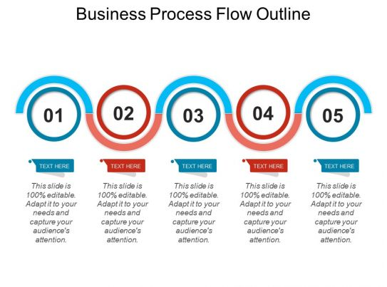 business process flow outline powerpoint slide