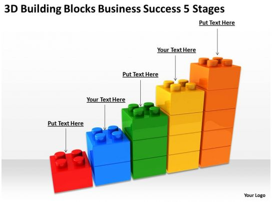 business process management diagram 3d building blocks