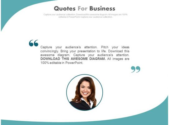 Good business presentation quotes on change