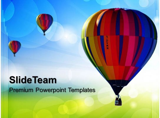 business strategy development templates hot air ballon