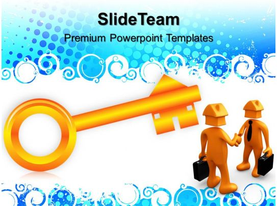 business strategy plan powerpoint templates house key security ppt