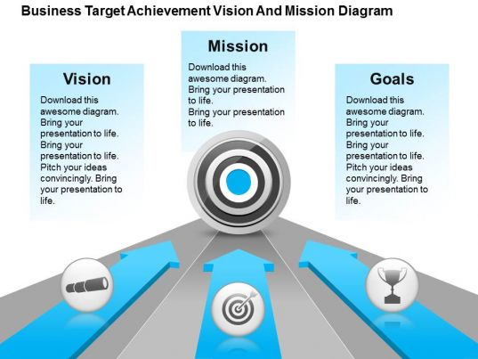 business target achievement vision and mission diagram powerpoint templates. Black Bedroom Furniture Sets. Home Design Ideas