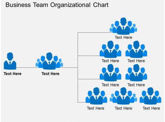 Business Team Organizational Chart Flat Powerpoint Design