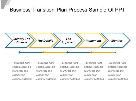 Business Transition Plan Process Sample Of Ppt  Powerpoint