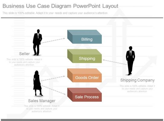 Business Use Case Diagram Powerpoint Layout