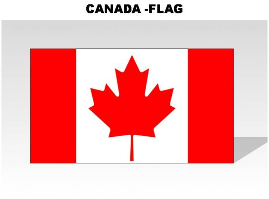 canada country powerpoint flags template presentation sample of