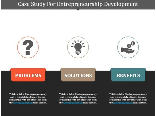 case study for entrepreneurship development powerpoint template powerpoint design template. Black Bedroom Furniture Sets. Home Design Ideas