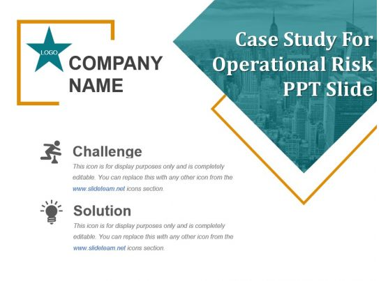 operational risk management case studies Cases in financial risk management course overview  this course uses a mix of lectures and case studies to provide students with a thorough.