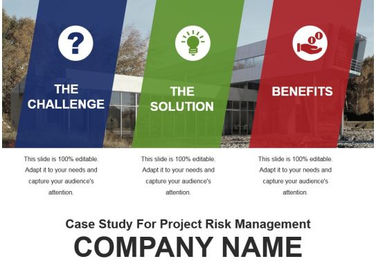 risk management in construction projects case study Locations constitute the case study sites where risk assessments were performed in wa4: a  the municipality has focused on proactive risk management of the.